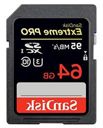 SanDisk Extreme PRO 64GB SDXC Flash Memory Card with up to