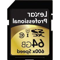Lexar Professional 600 x 64GB SDXC UHS-I Flash Memory Card