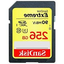 SanDisk Extreme SDXC UHS I U3 256GB Memory Card Up To 90MB s