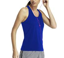Lupo Women's Seamless Running Tank, Medium Royal Blue