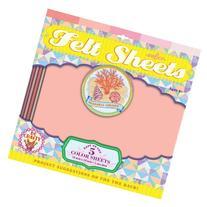 Seashell Colors Felt Sheets