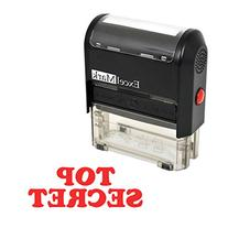 TOP SECRET Self Inking Rubber Stamp - Red Ink