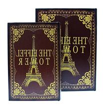 JustNile 2 Piece Secret Storage Box Book Safe - Eiffel Tower