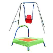 "HLC Secure Folding Toddler Swing + 32"" Padded Trampoline for"