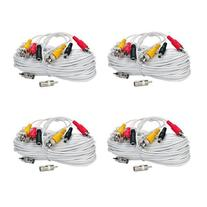VideoSecu 4 Pack 100ft Security Camera Wires Audio Video