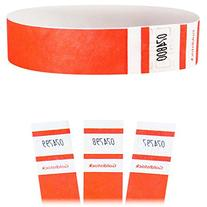 "Goldistock Select Series - 3/4"" Tyvek Wristbands Day Glow"