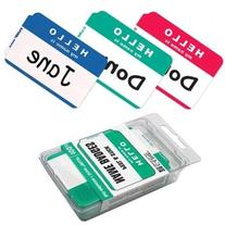 C-Line Self-Adhesive Name Badges, 3-1/2 X 2-1/4, Blue, 100/