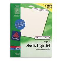Self-Adhesive Laser/Inkjet File Folder Labels, Purple Border