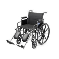 Self Transport Folding Wheelchair with Footrests, Solid