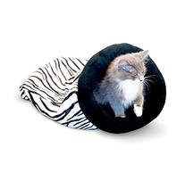 K & H Pet Products Self-Warming Zebra Kitty Sack