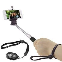 Selfie Stick with Bluetooth Remote for Smartphones - With