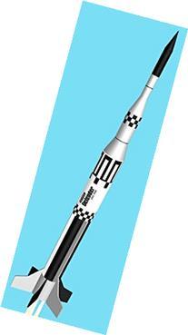 Semroc Flying Model Rocket Kit Defender KV-60