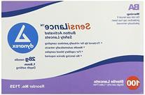 Dynarex Sensilance Safety Lancets, 28 Gauge Sterile, 100 Count