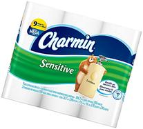 Charmin Sensitive Toilet Paper, Mega Roll, 9 Count
