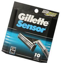 Gillette Sensor Men's Razor Blade Refills, 10 Count, Mens