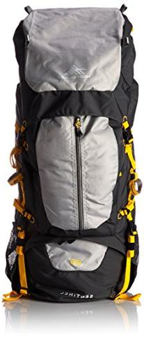 High Sierra Sentinel 65L Top LoadBackpack Pack, High-Performance Pack for Backpacking, Hiking, Camping, with Rain Fly, Mercury/Ash/Yell-O