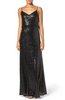 Women's Jenny Yoo 'Jules' Sequin Blouson Gown With
