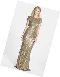 Women's Badgley Mischka Sequin Drape Back Gown, Size 6 -