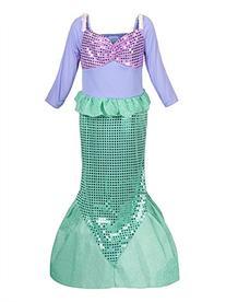ReliBeauty Girls Sequins Little Mermaid Costume 4-5