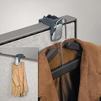 -- Pro Series Partition Additions Coat Hook and Clip, 1 5/8