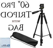 """60"""" Pro Series Professional Camera Tripod for Canon, Nikon,"""