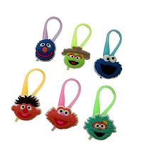 Sesame Street Luminescent Colorful Silicone Snap Lock Zipper