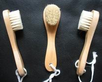 3 pcs/set Touch Me  Natural Bristle Wooden Wood Facial Face