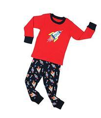 "Elowel Boys ""Rocket"" 2 Piece Pajama Set 100% Cotton - Size 8"