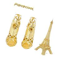 2pc Set Piececool Eiffel Tower P003-G High Heeled Sandal
