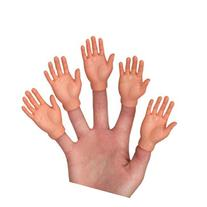 Set of Five Rubber Finger Hands Mini Puppets
