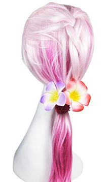 "HipGirl 6pc 2.5"" Hawaii Hawaiian Plumeria Flower Foam Hair"