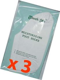 3 pairs/set Touch Me  Moisturizing Foot Socks, 94% Cotton /