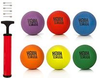 "High Bounce sets of 8.5"" Playground Balls with Hand Pump and"