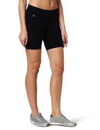 Danskin Women's Essentials Seven Inch Bike Short, Black,