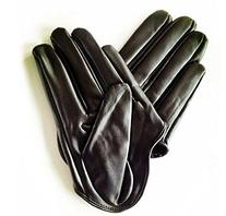 Sexy Womens Faux Leather Half Five Finger Half Palm Gloves