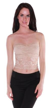 Emmalise Clothing Women's Sexy Laced Tube Top with Center