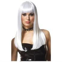 Womens Sexy Mistress Platinum Blonde Costume Wig