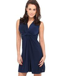 Sexy V Neck Sleeveless Summer Dress Knot Front Top