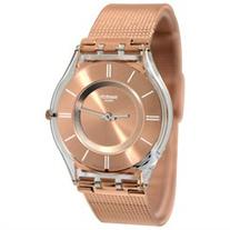 Swatch SFP115M Hello Darling Rose Gold Analog Dial Steel