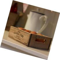 ukgiftstoreonline Shabby Chic Wood Egg Crate