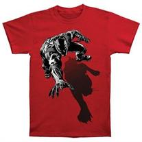 Black Panther Men's Shadow Slim Fit T-shirt XX-Large Red