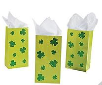 Shamrock Glitter Treat Bags -St. Patrick's Day/Party Favors/