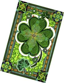 Shamrocks St. Patricks Day Decorative House Flag Clovers