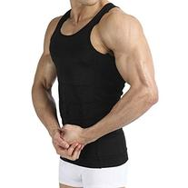 Image Men's Body Shaper Slimming Shirt Tummy Waist Vest Lose