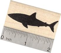 Shark Silhouette Rubber Stamp, Great White, Reef