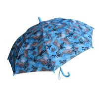RainStoppers Boy's Shark Print Umbrella, 34-Inch