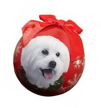 """Maltipoo Christmas Ornament"" Shatter Proof Ball Easy To"