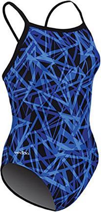 Dolfin Shatter XtraSleek Eco V-2 Back Female Blue 28