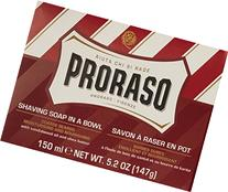 Proraso Shaving Soap in a Bowl, Moisturizing and Nourishing