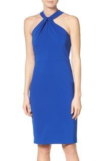 Women's Taylor Dresses Sheath Dress, Size 10 - Blue